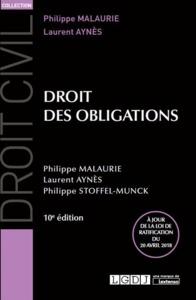 DROIT DES OBLIGATIONS - 10EME EDITION
