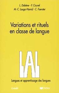 VARIATIONS ET RITUELS EN CLASSE DE LANGUE  - LIVRE