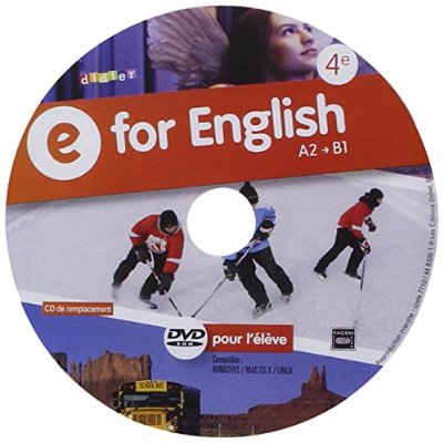 E FOR ENGLISH 4E - DVD-ROM DE REMPLACEMENT