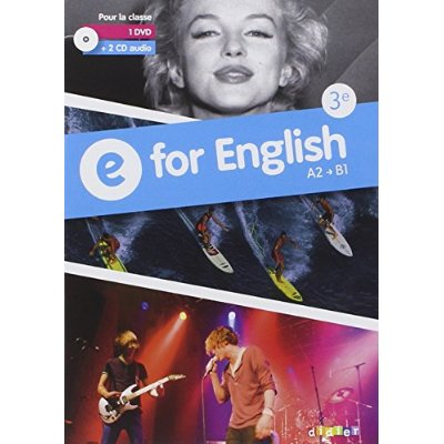 E FOR ENGLISH 3E - COFFRET CLASSE - CD AUDIO + DVD