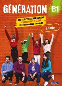 GENERATION 3 NIV.B1 - MANUEL NUMERIQUE PREMIUM - CARTE DE TELECHARGEMENT ELEVE/ENSEIGNANT - 1  CODE