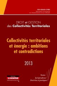DROIT ET GESTION DES COLLECTIVITES TERRITORIALES - 2013