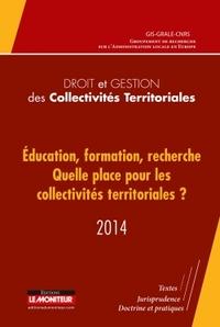 DROIT ET GESTION DES COLLECTIVITES TERRITORIALES - 2014