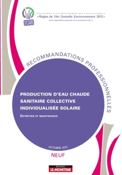 PRODUCTION D'EAU CHAUDE SANITAIRE COLLECTIVE INDIVIDUALISEE SOLAIRE - NEUF