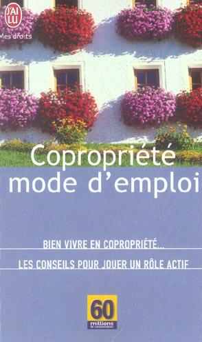 COPROPRIETE, MODE D'EMPLOI