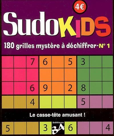SUDOKIDS 1 180 GRILLES MYSTERE A DECHIFFRER