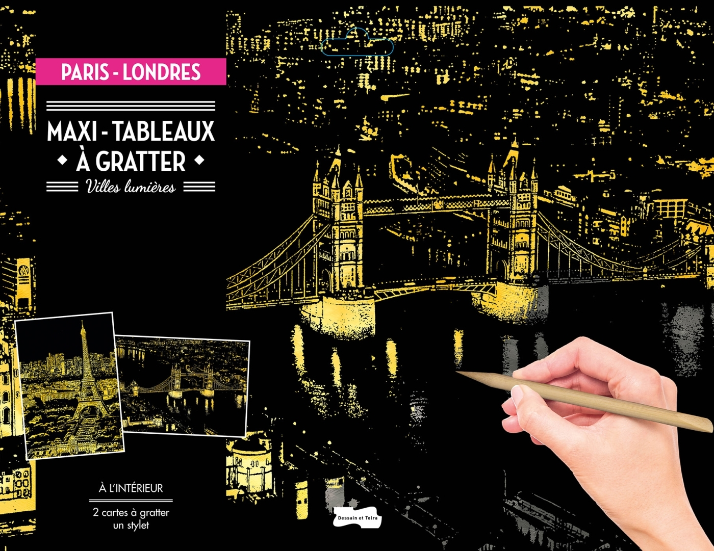MAXI-TABLEAUX A GRATTER PARIS-LONDRES