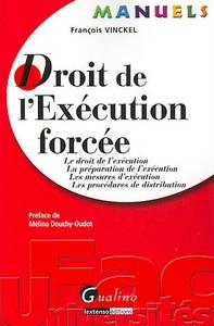 MANUEL - DROIT DE L'EXECUTION FORCEE