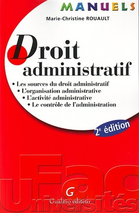 MANUEL - DROIT ADMINISTRATIF - 2EME EDITION