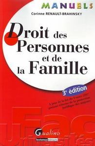 MANUEL - DROIT DES PERSONNES ET DE LA FAMILLE - 3EME EDITION