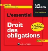 L'ESSENTIEL DU DROIT DES OBLIGATIONS - 14EME EDITION - NOUVELLE EDITION INTEGRE LES DISPOSITIONS DE