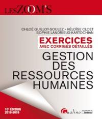 EXERCICES AVEC CORRIGES DETAILLES - GESTION DES RESSOURCES HUMAINES - 10EME ED
