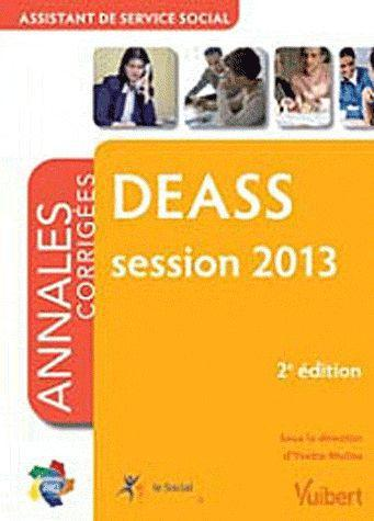 DEASS ANNALES CORRIGEES SESSION 2013