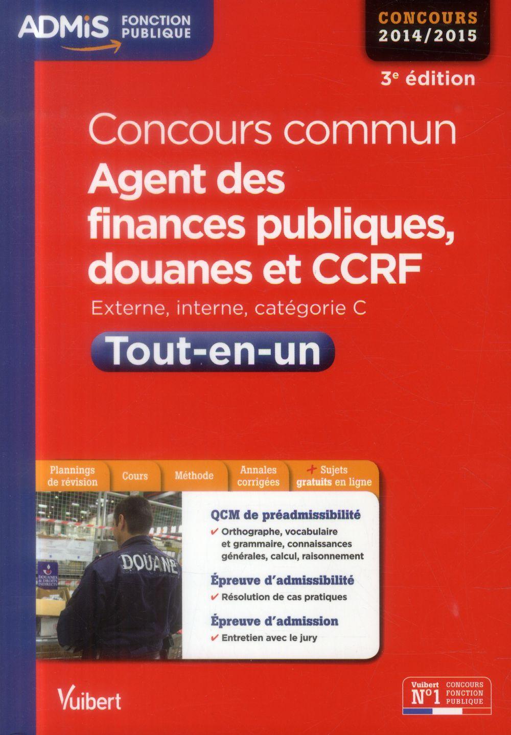 CONCOURS COMMUN AGENT DES FINANCES PUBLIQUES DOUANES ET CCRF TOUT EN UN