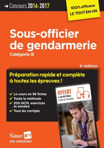 CONCOURS SOUS OFFICIER DE GENDARMERIE CAT B PREPARATION RAPIDE 5E EDT