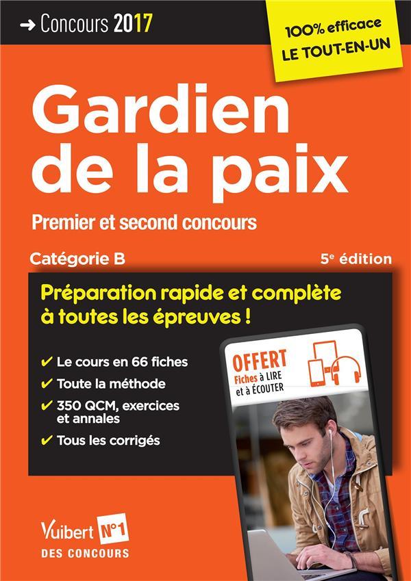 CONCOURS GARDIEN DE LA PAIX CAT B 5E EDT