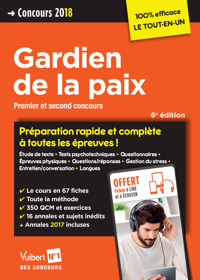 GARDIEN DE LA PAIX PREMIER ET SECOND CONCOURS CONCOURS 2018-2019