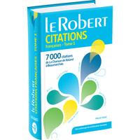 LE ROBERT CITATIONS FRANCAISES - TOME 1 - LES USUELS (POCHE)