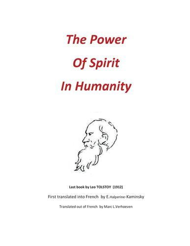 THE POWER OF SPIRIT IN HUMANITY