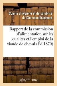 RAPPORT DE LA COMMISSION D'ALIMENTATION SUR LES QUALITES ET L'EMPLOI DE LA VIANDE DE CHEVAL