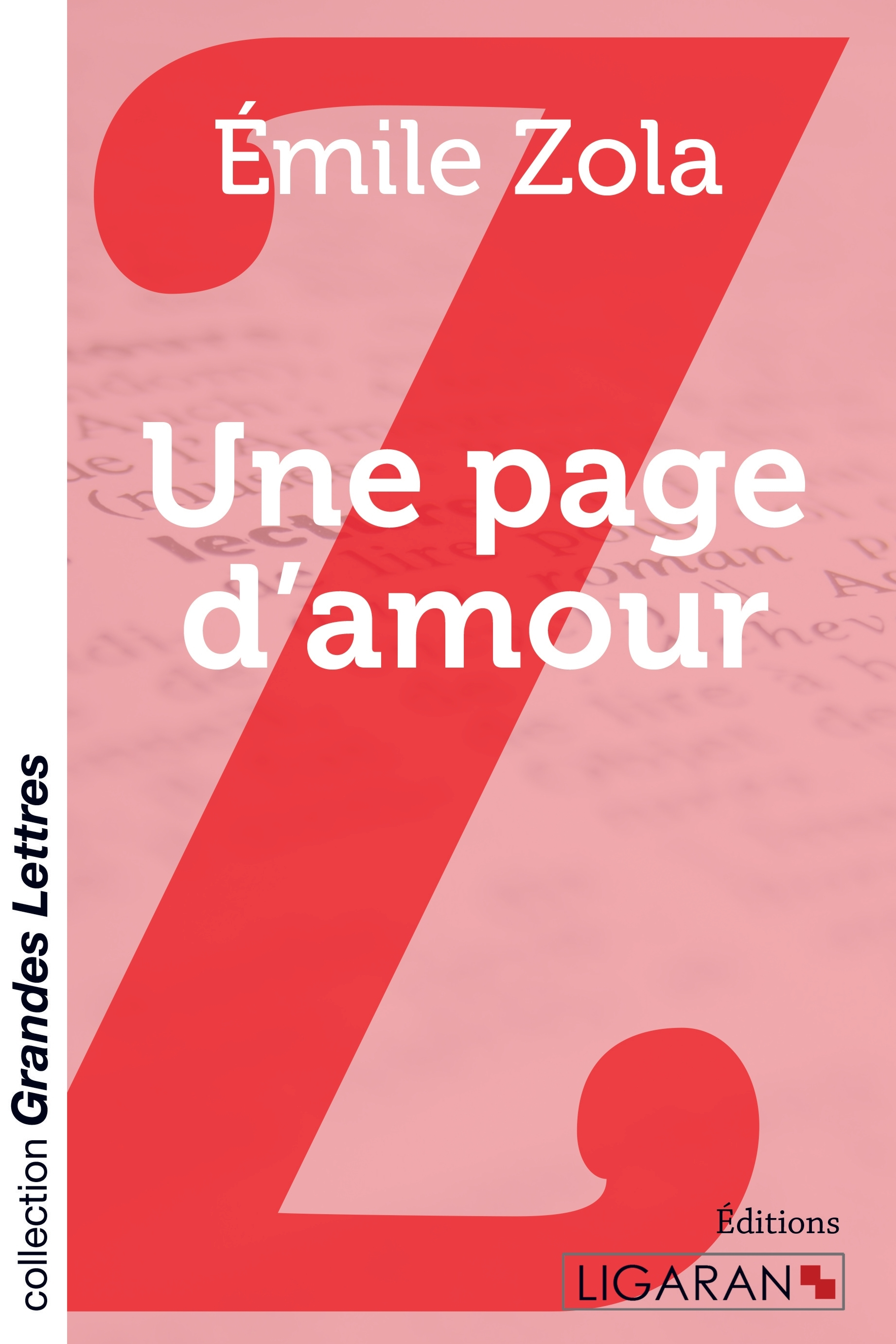 UNE PAGE D AMOUR GRANDS CARACTERES