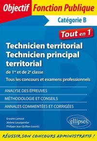 TECHNICIEN ET TECHNICIEN PRINCIPAL TERRITORIAL CONCOURS ET EXAMENS PROFESSIONNELS