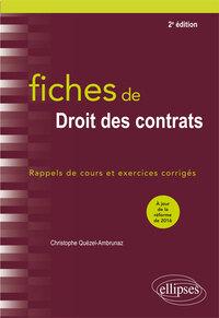 FICHES DE DROIT DES CONTRATS 2EME EDITION