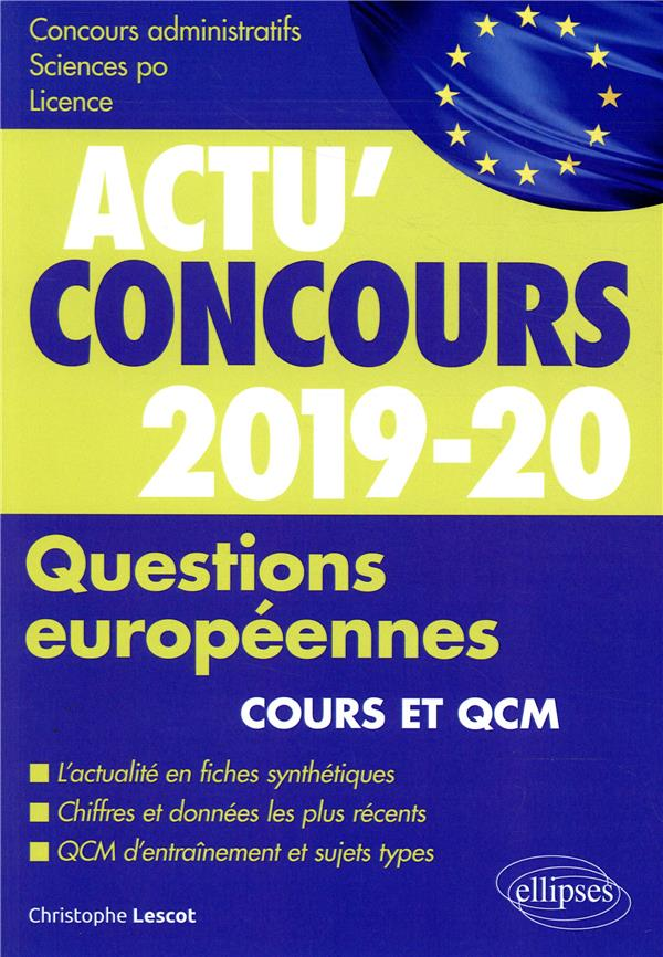 QUESTIONS EUROPENNES 2019-2020 COURS ET QCM