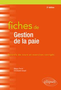 FICHES DE GESTION DE LA PAIE 3EME EDITION
