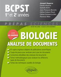 BIOLOGIE ANALYSE DE DOCUMENTS BCPST 1RE ET 2E ANNEES