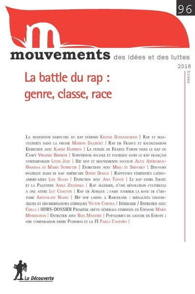 REVUE MOUVEMENTS NUMERO 96 LA BATTLE DU RAP : GENRE, CLASSE, RACE