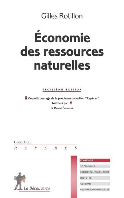 ECONOMIE DES RESSOURCES NATURELLES (3EME EDITION)