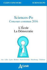 SCIENCES PO, CONCOURS COMMUN 2016