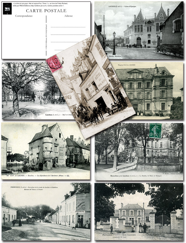 8 CARTES POSTALES COLLECTOR LOCHES ET SON PAYS. T 1.