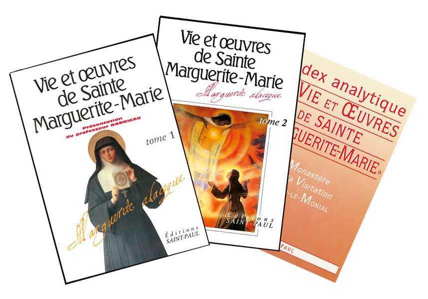 VIE ET OEUVRES DE SAINTE MARGUERITE-MARIE - TOME 1 ET 2 (+INDEX ANALYTIQUE OFFERT)