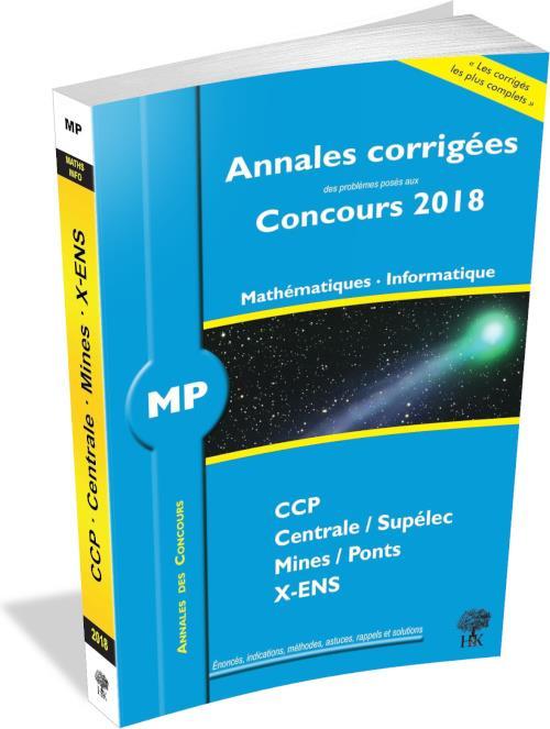 ANNALES CORRIGEES CONCOURS 2018 MP MATHEMATIQUES INFORMATIQUE