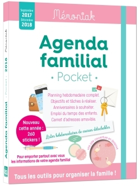 AGENDA FAMILIAL MEMONIAK POCKET 2017-2018