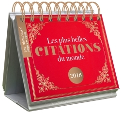 CALENDRIER - ALMANIAK LES PLUS BELLES CITATIONS DU MONDE 2018