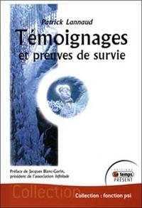 TEMOIGNAGES ET PREUVES DE SURVIE