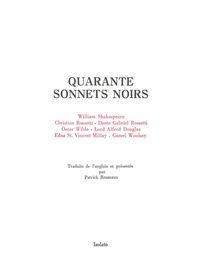 QUARANTE SONNETS NOIRS