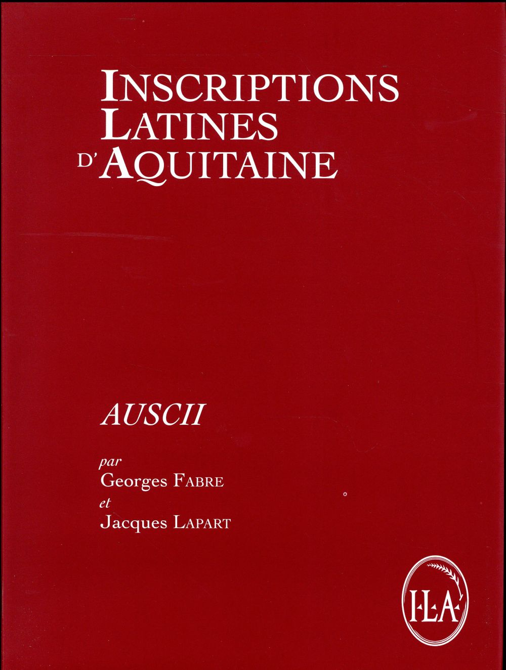 INSCRIPTIONS LATINES D'AQUITAINE, AUSCII