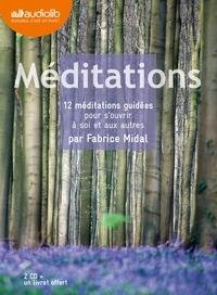 MEDITATIONS - 12 MEDITATIONS GUIDEES POUR S'OUVRIR A SOI ET AUX AUTRES - LIVRE AUDIO 2 CD AUDIO ET U