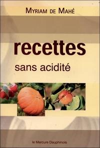 RECETTES SANS ACIDITE