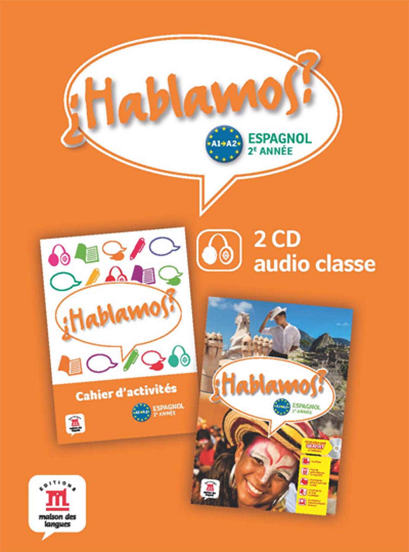 HABLAMOS 2 - 2 CD AUDIO CLASSE