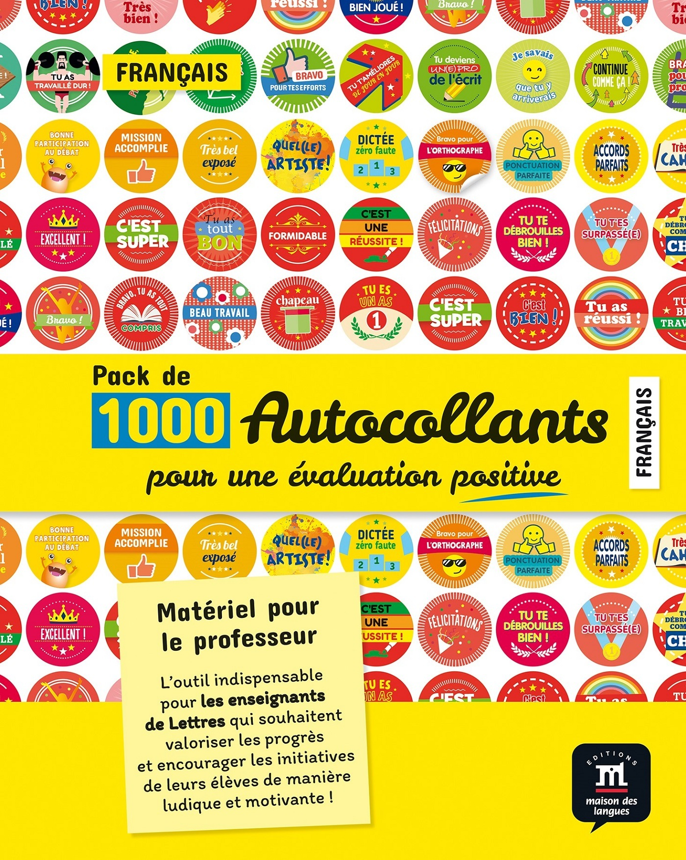 PACK D'AUTOCOLLANTS POUR L'EVALUATION EN FRANCAIS