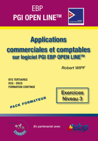 EBP PGI OPEN LINE LIGNE PME. PACK FORMATEUR. APPLICATIONS COMMERCIALES ET COMPTA