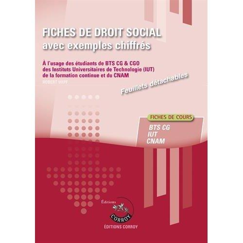 FICHES DE  DROIT SOCIAL AVEC EXEMPLES CHIFFRES