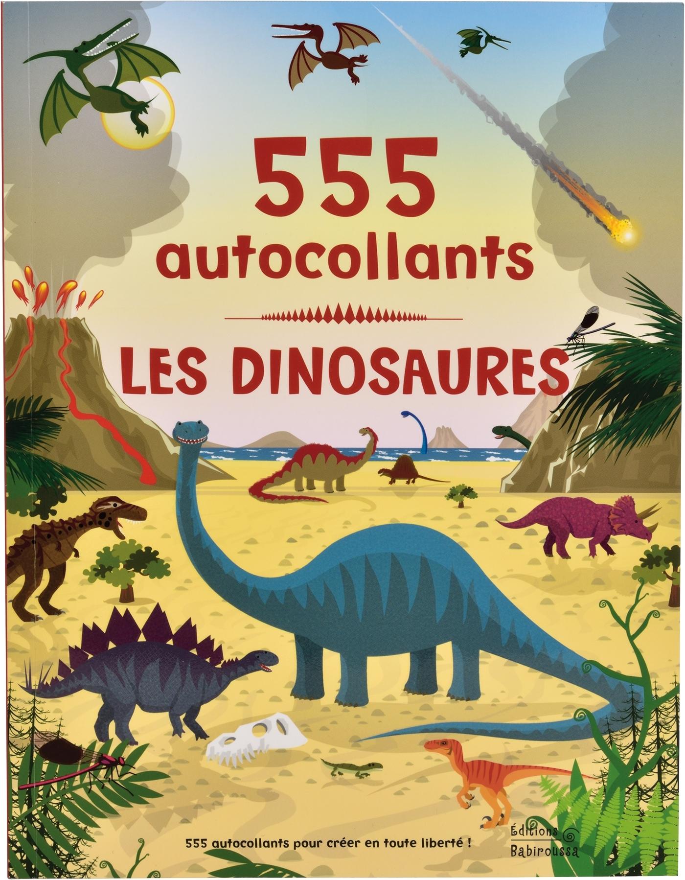 LES DINOSAURES - 555 AUTOCOLLANTS