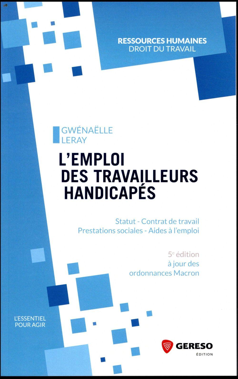 L EMPLOI DES TRAVAILLEURS HANDICAPES