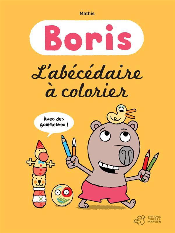 BORIS L'ABECEDAIRE A COLORIER AVEC DES GOMMETTES